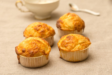 cheese muffins on flax