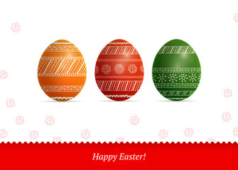Background with Easter colorful eggs