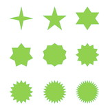 Set of green stars
