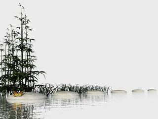 Zen steps - 3D render