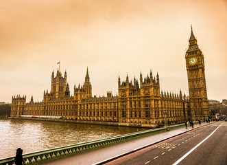 The Big Ben, the House of Parliament, London, UK.