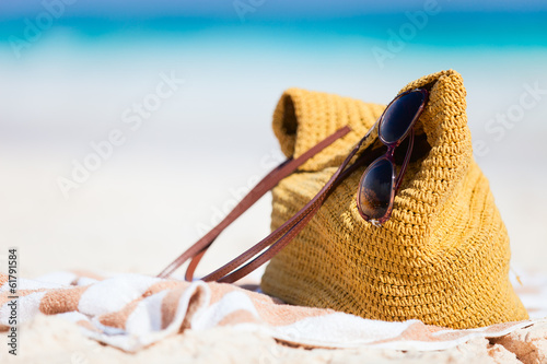 canvas print picture Beach vacation details