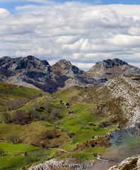 Cantabria valley in Las Alisas,Solafes.Spain.