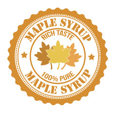 Maple syrup stamp
