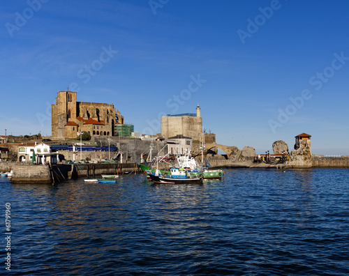 Town of Castro Urdiales.Fisherman village.Spain.