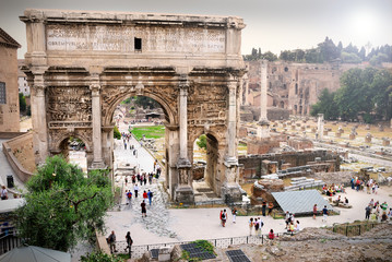Roman Forum, Arch of Septimius Severus, Rome