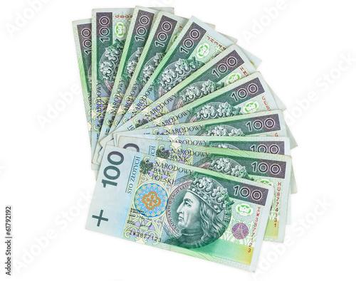 Polish banknotes of 100 PLN - 61792192