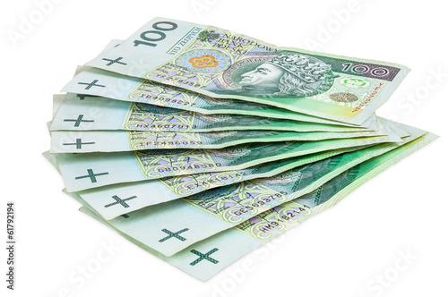 Polish banknotes of 100 PLN - 61792194