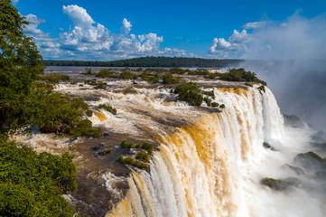 Waterfalls. Iguassu Falls in Brazil