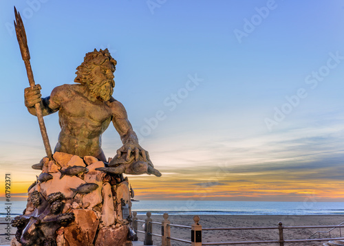 Foto op Aluminium Standbeeld King Neptune at Neptune Park, Virginia Beach