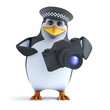 3d Officer penguin has it on film