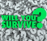Will You Survive Question Mark Background Endurance Survival