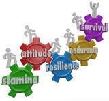 Survival Endurance Attitude Stamina Resilience People Enduring D poster