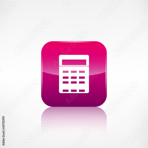 Calculator web icon. Application button.
