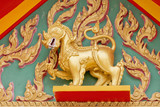 Gold Singha in the temple