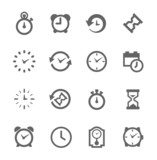 Simple Icon set related to Time