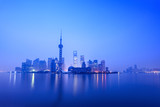 stillness of dawn in shanghai