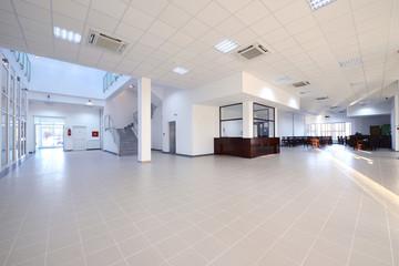 Empty vestibule in the modern office building