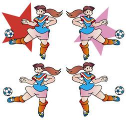 マスコットキャラクター_女子サッカー
