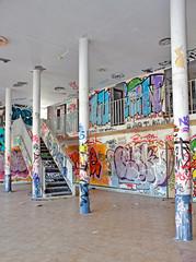 intérieur de bâtiment abandonné