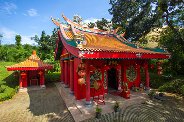 Red Chinese Temple