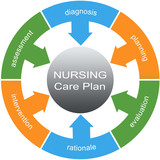 Nursing Care Plan Word Circle Concept