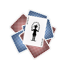Playing cards and joker