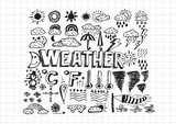 weather symbols widget and icons drawing idea