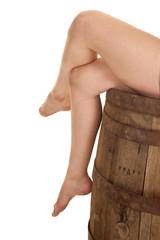 legs on barrel