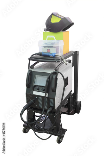 welding machine isolated on white background