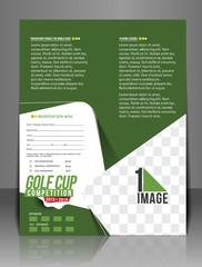 Golf Tournament Center Back Flyer Template