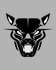 tribalistic wild cat head