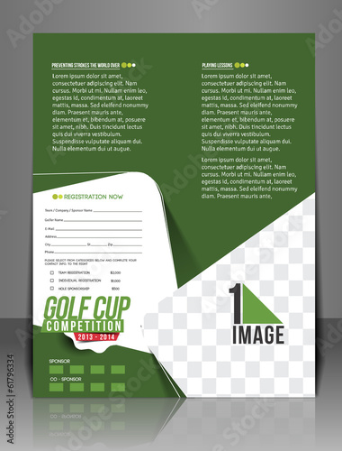 Golf Tournament Center Back Flyer Template
