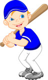 boy cartoon baseball player