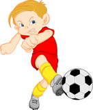 boy cartoon soccer player