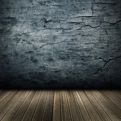 Texture of grunge interior with wooden