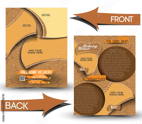 Bekery House Front & Back Flyer Template
