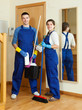 cleaners ready for work