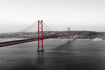 Red Bridge on a monochromatic background © sergeialyoshin
