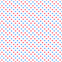 Valentine day polka pattern