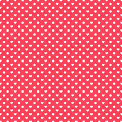 Polka hearts seamless pattern