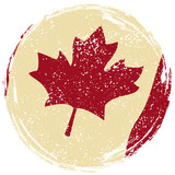 Canadian grunge flag. Grunge effect can be cleaned