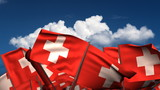 Waving Swiss Flags