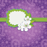 lilac Paisley Design template or artwork