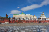 Russia, Moscow,  Moscow Kremlin and the river