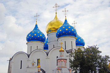 Church Domes in Trinity Sergius Lavra