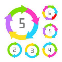 Process vector diagram with arrows