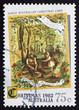 Postage stamp Australia 1982 Early Australian Christmas Card