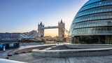 Tower Bridge and city Hall - 61799524