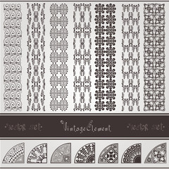 vintage seamless texture and element  set
